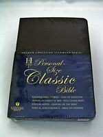 Holman Personal Size Classic Bible Christian Standard - Burgundy Bonded Leather