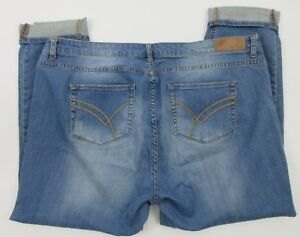 Rast Boyfriend Jeans Distressed Plus Kvinders William 20 Size Denim apddX