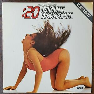 20-Minute-Workout-1983-Vinyl-LP-Record-amp-Instruction-Booklet-Disco-Ronco-Shiva