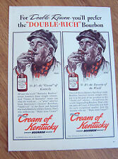 1940 Straight Bourbon Whiskey Ad  the Cream of Kentucky Norman Rockwell Artwork