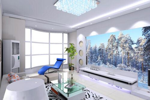 3D Snow Forest Scenery 1637 Wallpaper Decal Dercor Home Kids Nursery Mural Home