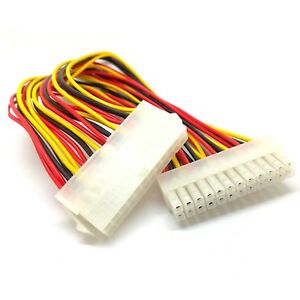 ATX 24Pin female to 24pin male right angle adapter for desktop PC power supply