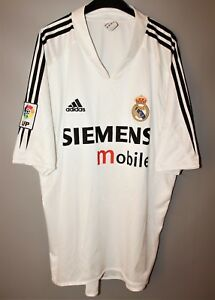 purchase cheap e70d6 6a2fc Details about REAL MADRID SPAIN 2004/2005 HOME FOOTBALL SHIRT JERSEY ADIDAS  ZIDANE ERA SIZE XL