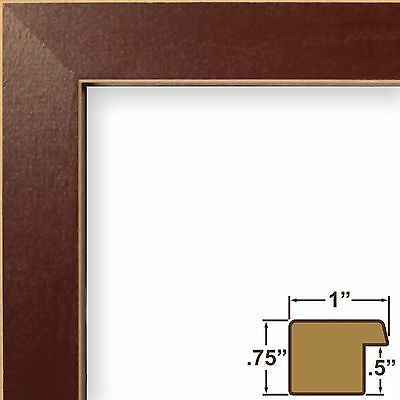 "Craig Frames 1"" Shaker, Red Wood Picture Frame, Custom Sizes"