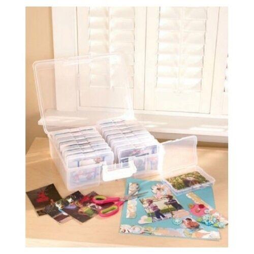 Plastic Carry Case 1600 Photo Storage Organizer Translucent with 16 Inner Cases