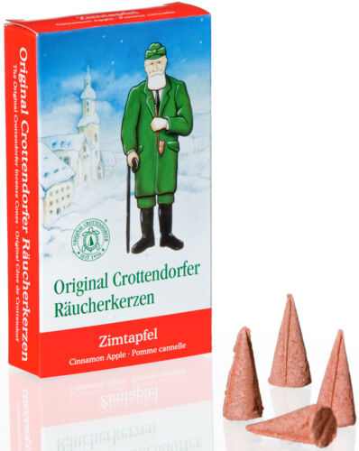 24 Stück Crottendorfer Räucherkerzen Räucherkegel ZIMTAPFEL