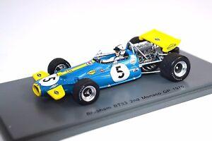Brabham-BT33-2ND-Monaco-GP-1970-Jack-Brabham-1-43-Spark-Resina-S4781-Nuevo