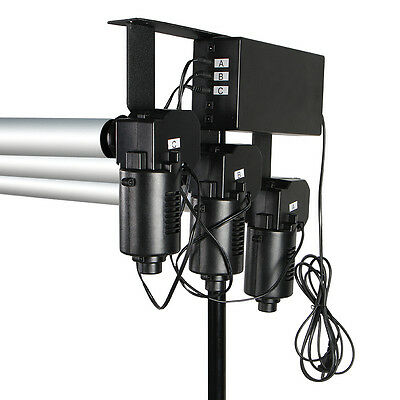 3-Roller Motorized Background Support System w/ Wireless Remote Controller