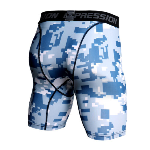Mens Compression Shorts Running Workout Sports Trunks Gym Underwear Wicking Camo