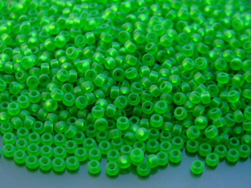 10g MATUBO 8//0 Best Quality Czech Seed Beads Chrysolite Matt