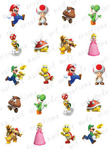 ... NAIL DECALS * MARIO BROTHERS CHARACTER ASSORTMENT * WATER SLIDE NAIL