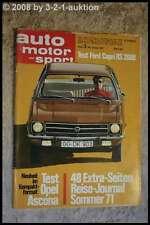 AMS Auto Motor Sport 3/71 Ford GT 70 Opel Ascona Ford Capri RS 2600