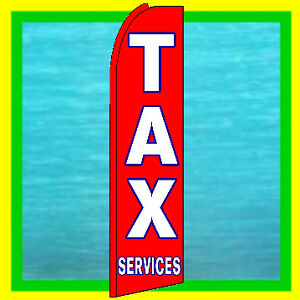 Details about TAX SERVICES SWOOPER FLAG Income Tax Advertising Feather  Flutter Bow Banner