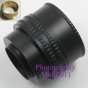 Brass M52 to M42 25-55mm Adjustable Focusing Helicoid Adapter Extension Tube 607983718689
