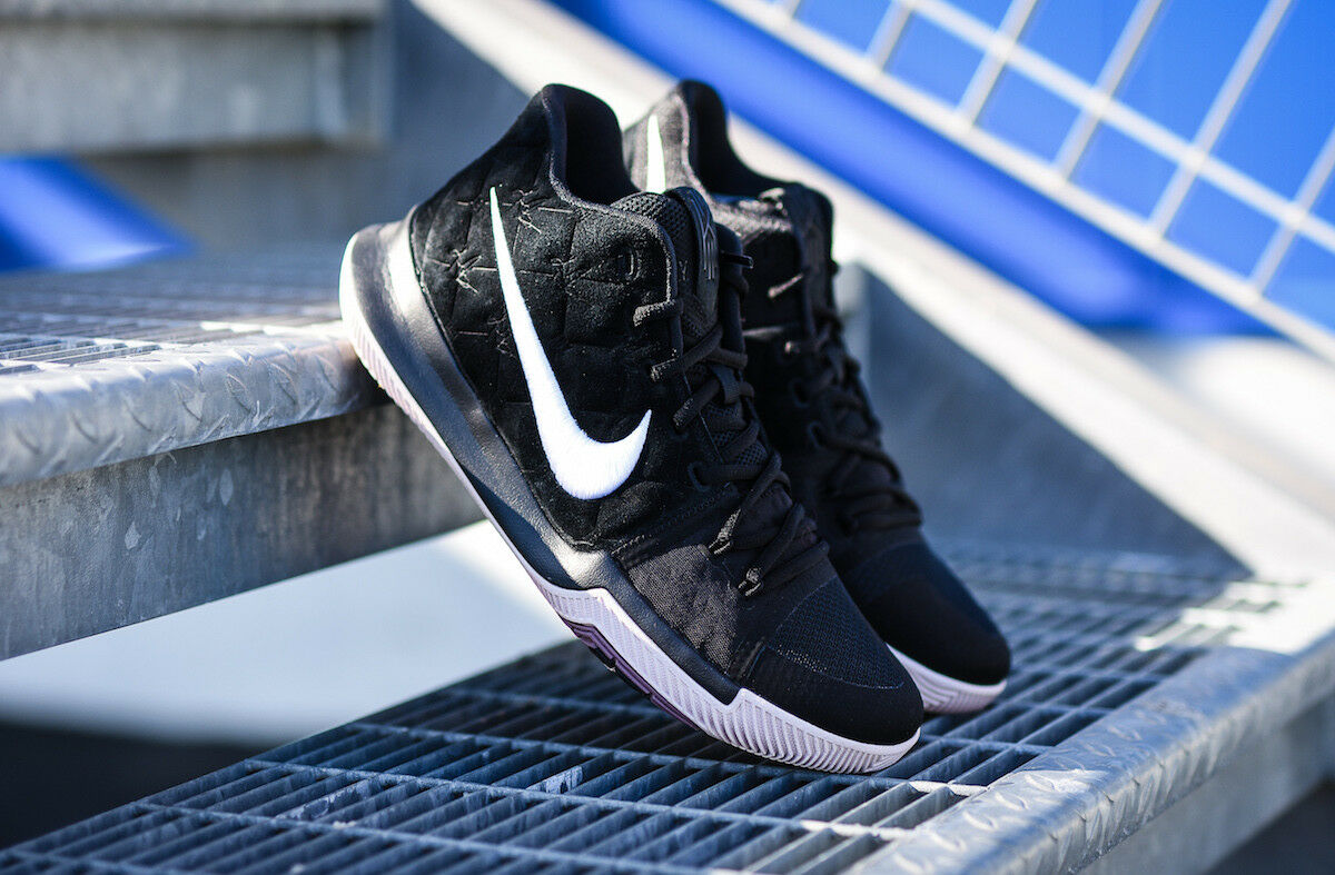 Nike Kyrie 3 III Black Suede White Silt Red 852395-010 Men's 14 Basketball Shoes