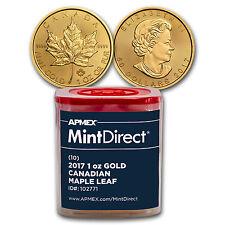 2017 Canada 1 oz Gold Maple Leaf (10-Coin MintDirect® Tube) - SKU #102771