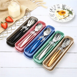 3pcs-set-Spoon-Fork-Chopsticks-Stainless-Steel-Travel-Cutlery-Tableware-Box-Sale