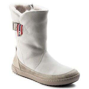 635db51d7f4980 Das Bild wird geladen BIRKENSTOCK-Damen-Winterstiefel-Boots -Woodbury-1007178-offwhite-Leder-