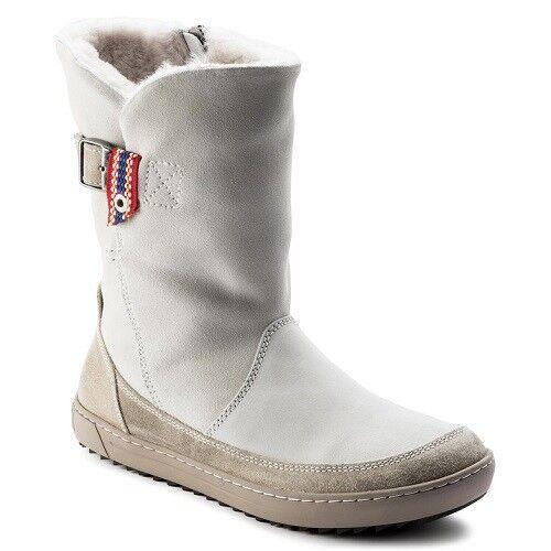 hot sales 334d4 91ff1 BIRKENSTOCK Damen Winterstiefel Boots Woodbury 1007178 offwhite Leder  gefüttert