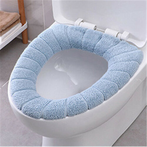 Bathroom WC Toilet Seat Closestool Washable Soft Warmer Mat Cover Pad Cushion UK