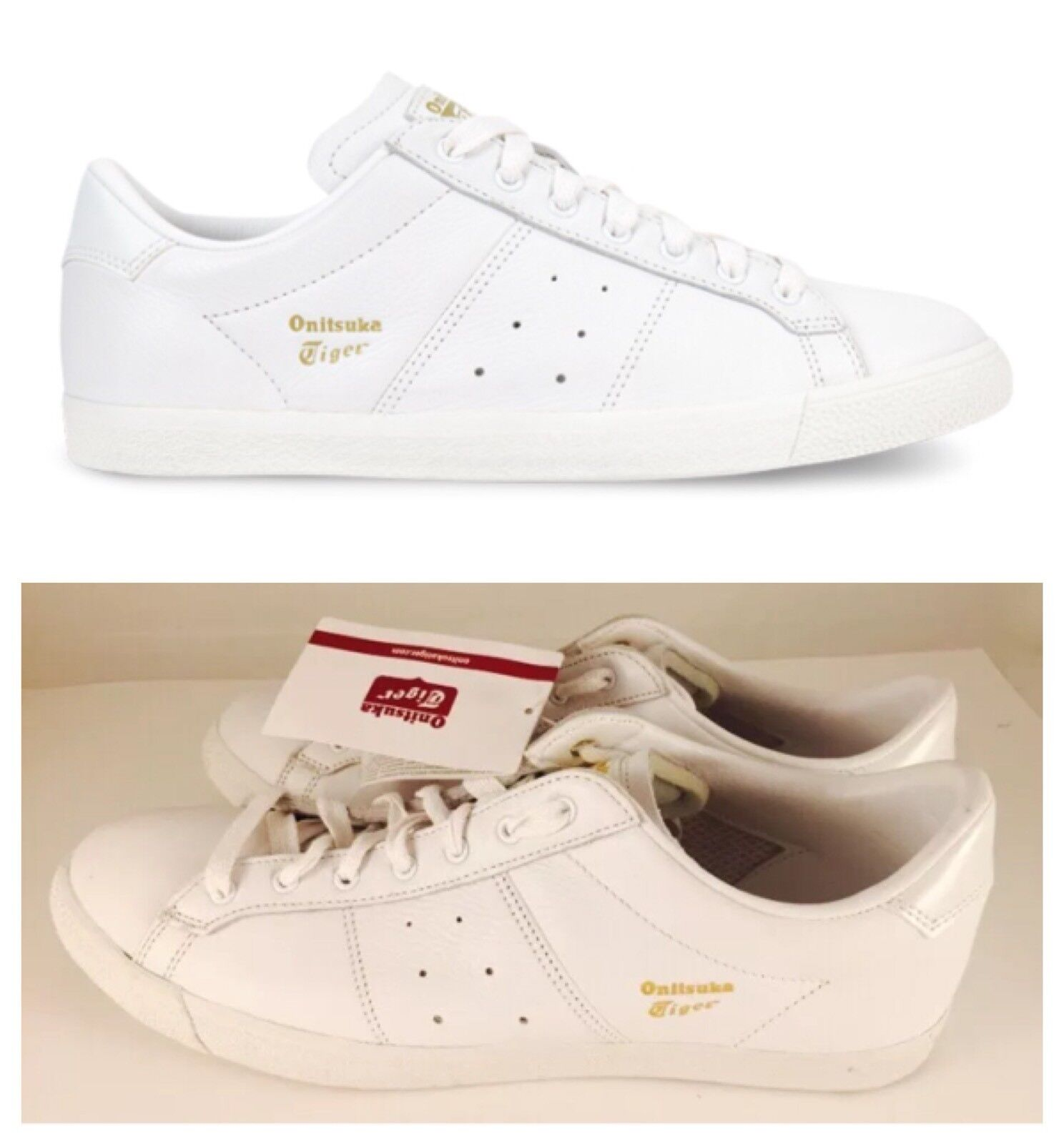 New Onitsuka Tiger Asics LAWNSHIP White Leather Men's Sneakers Comfortable Comfortable and good-looking