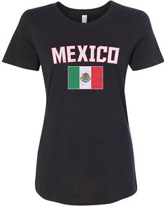 Threadrock-Women-039-s-Mexico-Flag-T-shirt-Mexican-National-Team