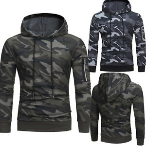 Men-Camo-Hoodie-Pullover-Hooded-Sweatshirt-Military-Army-Sweater-Slim-Gym-Jacket