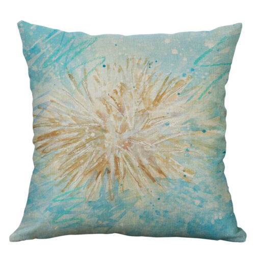 Beach maxim Cotton Linen Sofa Waist Cushion Cover Pillow Case Home Decor