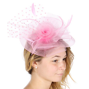 Image is loading Derby-Church-Cocktail-Wedding-Fascinator-Hat-w-Headband- 9ea550da414