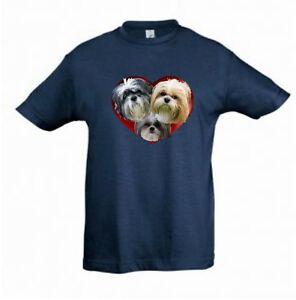 Shih-Tzu-Dogs-in-a-Heart-Kids-Dog-Themed-Tshirt-Childrens-Tee-Xmas-Gift-Birthday