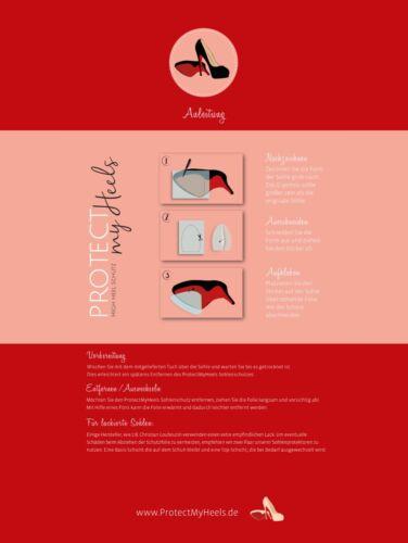 transparent Highheels Sohlenschutz 3er Pack für Pumps Stilettos