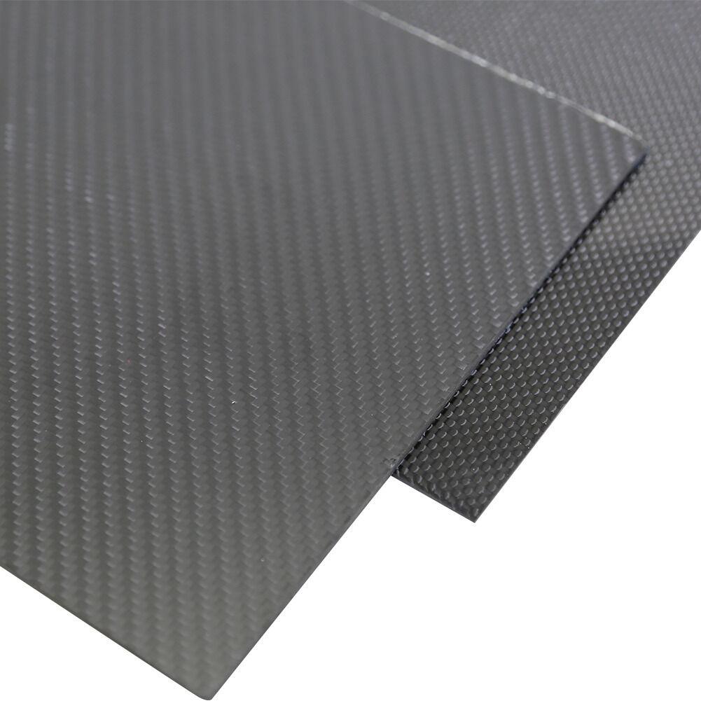 1Pc 3x400x500mm 3K Fibra De Carbono Hoja De Panel De Placa 3mm de espesor brillante surgb