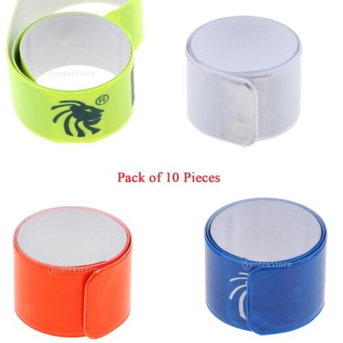 10x Night Running Cycling Walking Safety Arm Ankle Band Pant Strap Armbands