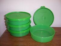 Tupperware Medium Wonders Bowls Set Of 4 Green 1 1/2 Cup