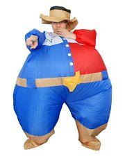ADULT INFLATABLE SHERIFF COWBOY FANCY DRESS COSTUME HALLOWEEN PARTY BUCKS NIGHT
