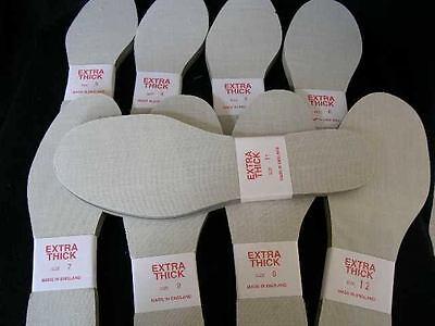Comfy Grueso Suela Interior listo precortadas Bota Zapato inserta los trazadores de líneas Size UK 8 EU 42