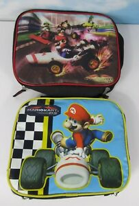 Lot-Of-2-Mario-Kart-Ds-Lunch-Bags-Mariokart-Ds-Blue-Black-Fast-Shipping