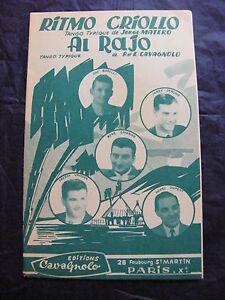 Partition-Ritmo-Criollo-de-J-Matero-Al-Rajo-de-P-et-E-Cavagnolo-tango-1959
