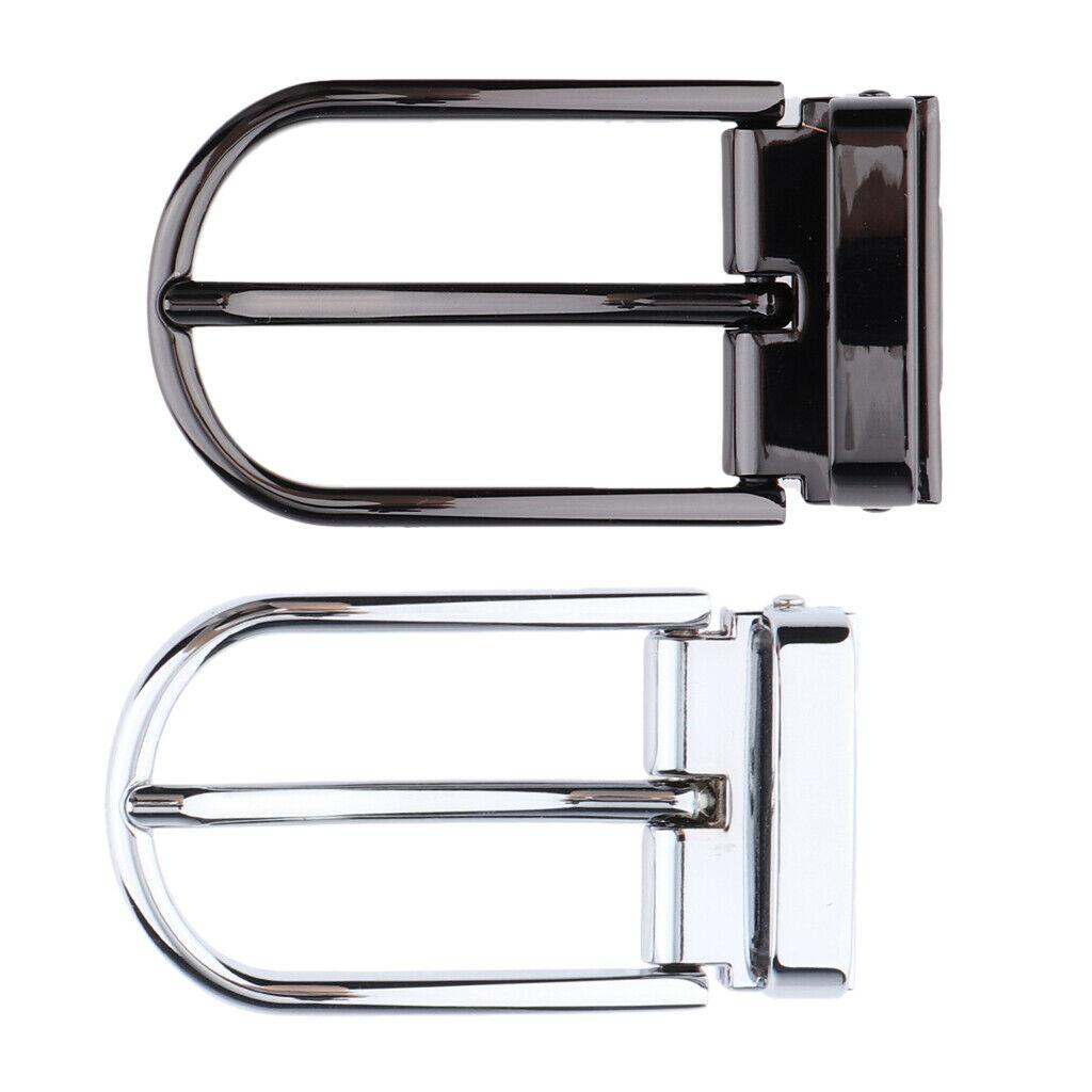 2 Stück Aluminium Gürtelschnalle Single Prong rechteckige Dornschließe Ersatz