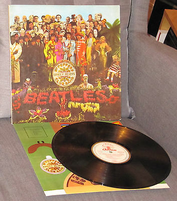 Beatles deut. LP: Sgt. Pepper's Lonely SMO 81045 Swiss Export Bastelbogen TOP!!