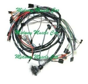 front end headlight l wiring harness 65 chevy chevelle malibu with gauges ebay