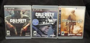 Call of Duty Modern Warfare 2 Black Ops Ghost Playstation 3 PS3 3 Game Lot Works