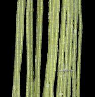 2.5mm Yellow Jade Gemstone Round Tube Heishi 2.5-1.5mm Loose Beads 16