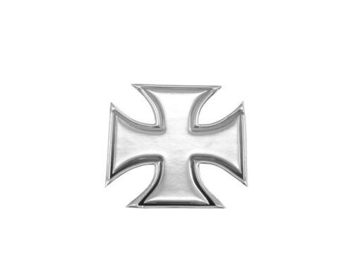 Chrome 3-D Maltese Gothic Cross x 2 Tank//Fender Decals Highway Hawk 51-39952