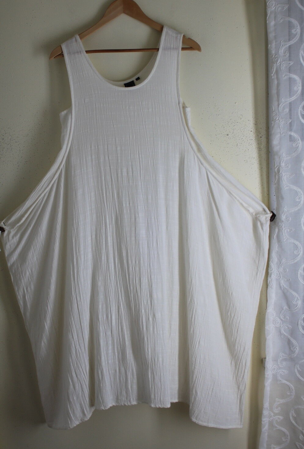 Animale French Boutique XS S M Ivory Lagenlook Funky Dress Gauze Resort Tunic