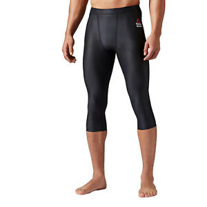 58256e53 Details about $65 Reebok Men's Crossfit Three Quarter Length Compression  Tights, Black XL