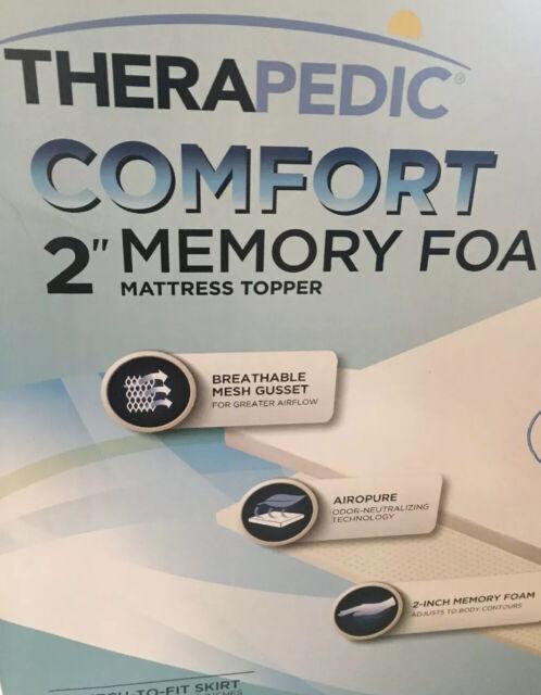 Therapedic Visco 2 Inch Comfort Queen Mattress Topper for sale online