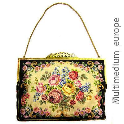 Ehrlich Jugendstil Hand Tasche Abendtasche Petit Point Stickerei Needlework Lupenarbeit GüNstigster Preis Von Unserer Website
