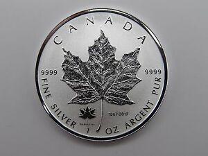 2017 Canadian Silver Maple Leaf 1oz .9999 Silver