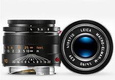 Leica 90mm F/4 Macro Collapsible Elmar-m Black 6 Bit 11633 M Mount Lens 39